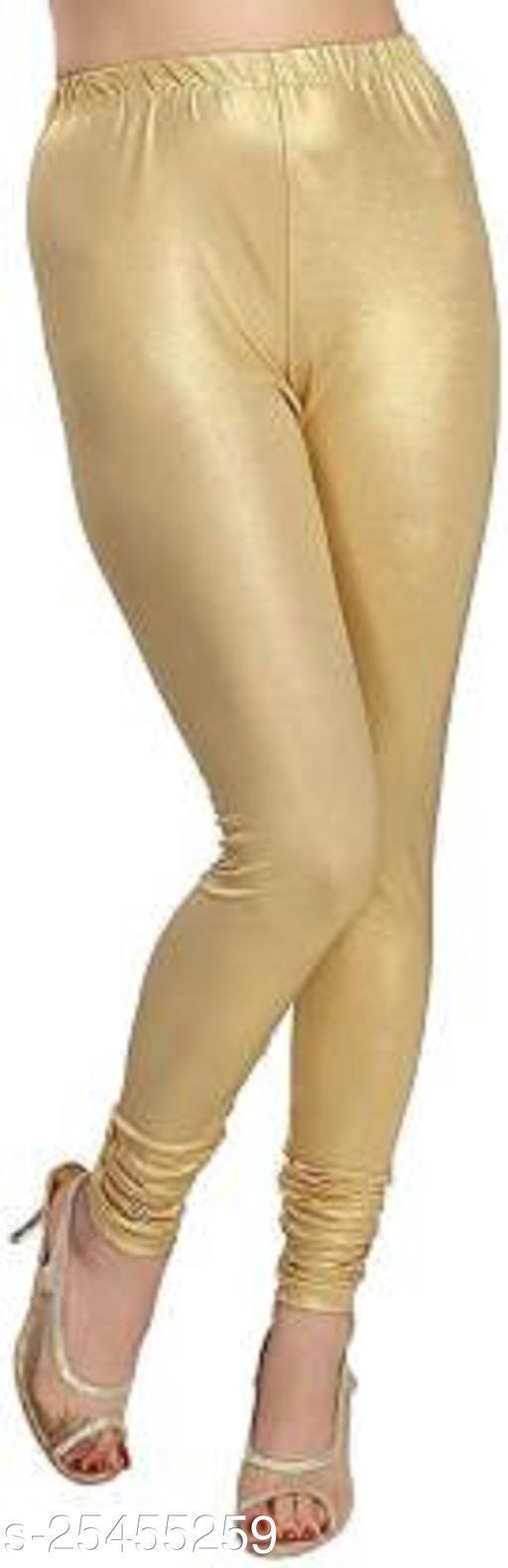 Stylish Golden Legging Shimar Material