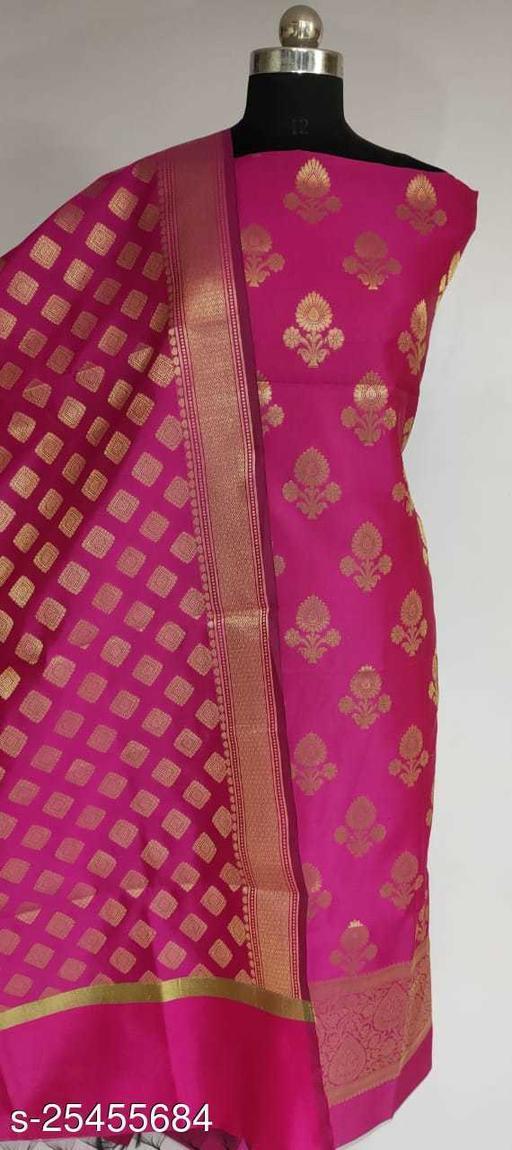 TrenDy Fabulous Banarsi Silk Suit And Dress Material