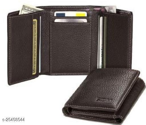 Fashlook Brown Trifold Wallet For Men