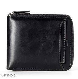 Fashlook Black Zipper With Baccha Wallet For Men