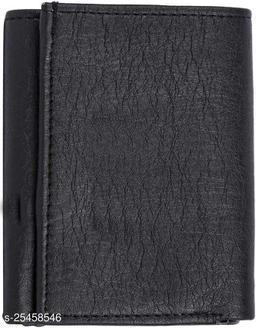 Fashlook Black Trifold Wallet For Men