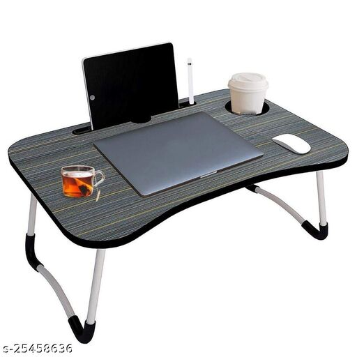 Laptop Bed Tray Table, Adjustable Portable Lap Desks, Notebook Stand with Foldable Legs,Tablet Standing&Cup Slot for Eating Breakfast,Reading,Working,Watching Movie on Bed/Couch/Sofa.