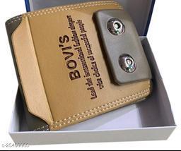 Fashlook Cream Bovis Double Magnet Wallet For Men