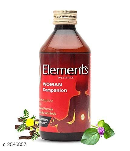 Health Equipments (Diabetic Care Etc) Elements Health Care Product  *Product Name* Elements Wellness Woman Companion  *Brand Name* Elements  *Product Type* Health Drink  *Capacity* 200 ml  *Description* Women typically experience mood changes, stress, headache, pain and other disturbances month after month. Elements Women Companion has been formulated with herbs that in Ayurveda are known to address and provide help in relieving these very problems and symptoms. Elements Woman Champion helps in leading a life of minimum discomfort during those difficult days every month.  *Package Contains* It Has 1 Pack Of Health Drink  *Sizes Available* Free Size *   Catalog Rating: ★4.1 (69)  Catalog Name: ON & ON/ Elements Health Care Products Vol 1 CatalogID_343183 C125-SC1574 Code: 132-2546857-003