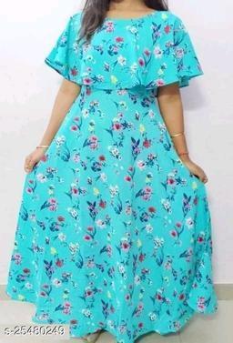 KRV Stylist Woman Crape Dress