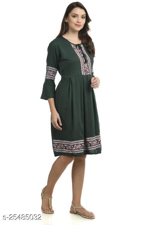 Women Dress Green