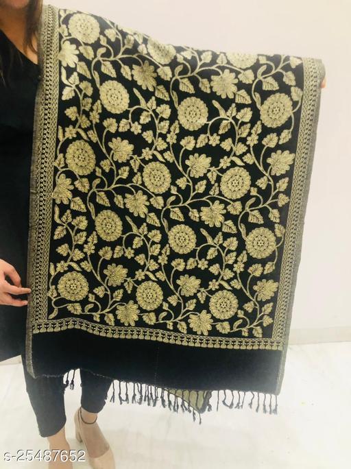 Women Woven Floral Jaal Designer Stole