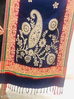 Women woven Designer Paisley Floral Stole