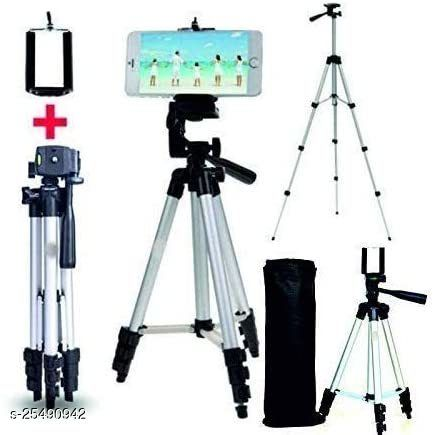 Tripod with mobile holder Light Aluminum Alloy Photography Stand for Make Videos