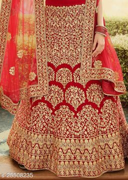 Fancy Satin Fancy Satin Women'S Semi Stiched Embroidered DESIGNER Lehenga Choli