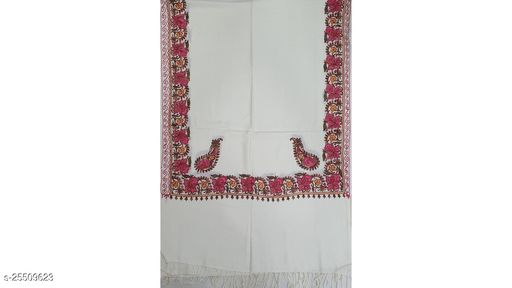 Girlist Stylish Woolen Embroidery Shawls