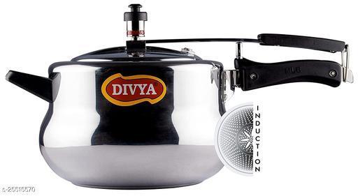 DIVYA 5 Litres Induction Base Handi Aluminium Pressure Cooker