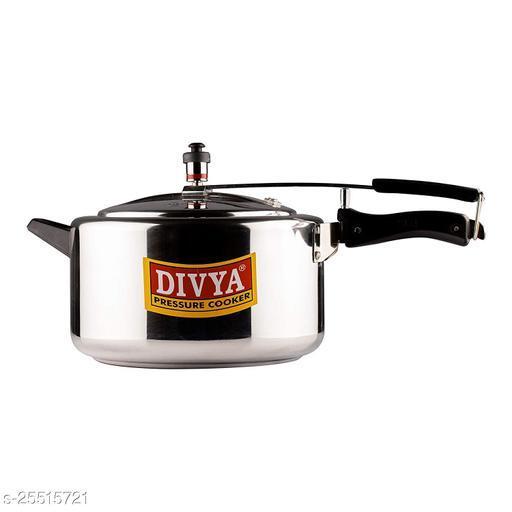 DIVYA Flat Aluminum Pressure Cooker (8 litres)