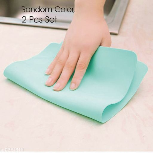 2 Pcs Kitchen Car Home Bathroom Vehicle Glass Magic Wipes Cleaning Washing Towel Cloth ( Multi Color, Pack Of 2 pcs )