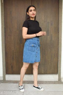 SATIMA Women Denim  Skirt