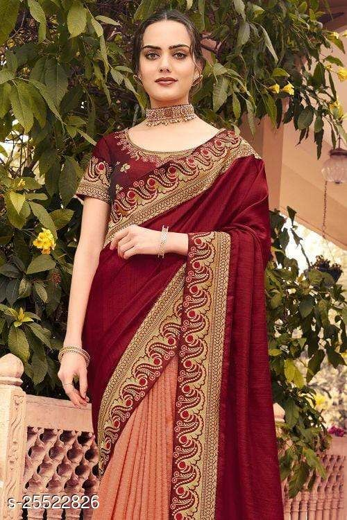 Georgette Satin Wedding Collection Heavy Embroidery Saree