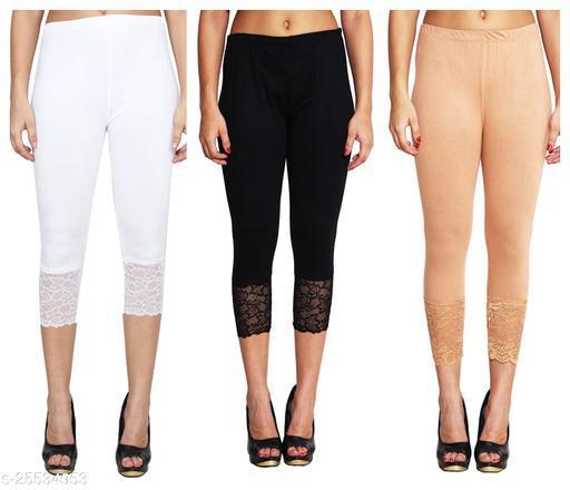 Stylish & Comfortable Capri For Women Hosiery Comfortable Material Classic Look