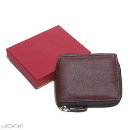 Trendy Women's Brown Synthetic Wallet