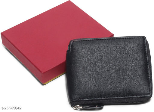 Trendy Women's Black Synthetic Wallet
