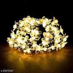 Amraz 40 LED Blossom Flower String Lights for Home Decoration, Plug in Fairy Diwali Christmas Lights (Warm White)