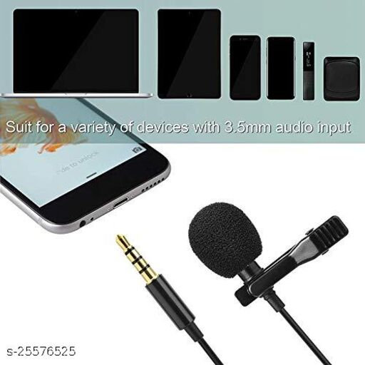 Tornado Sound Quality Clip Collar Mic Usable for Video's   Interviews   Lectures   Speech   Travel Video's Mic Supported with All Mobile (Random Color) 1.5 mtr