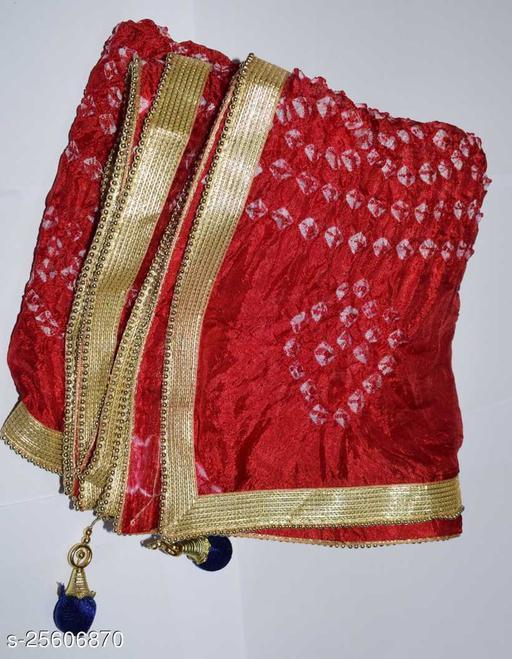 art silk bhandejand bhandhani  dupatta