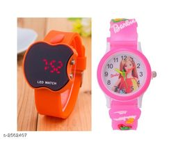 Trendy Rubber Digital Kid's Watches (Pack Of 2)
