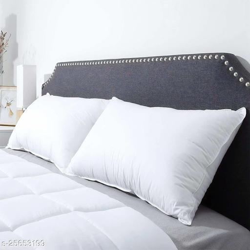 Sawar Creation Microfiber Sleeping Pillow 17x27 White Set of 2