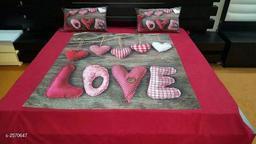 Attractive Velvet Printed Double Bedsheet