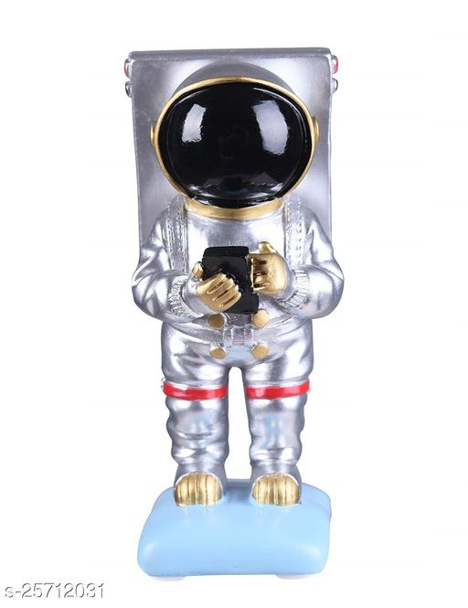 Trunkin New Fancy Silver Astronaut Figurine Standing Novelty Mobile Phone Stand Holder