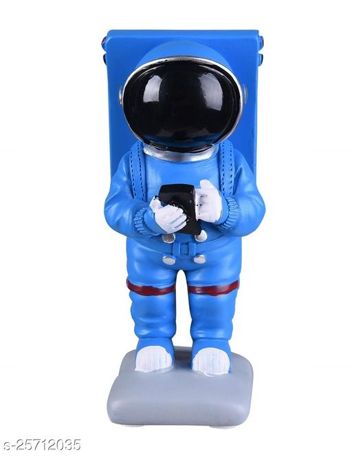 Trunkin New Fancy Blue Astronaut Figurine Standing Novelty Mobile Phone Stand Holder