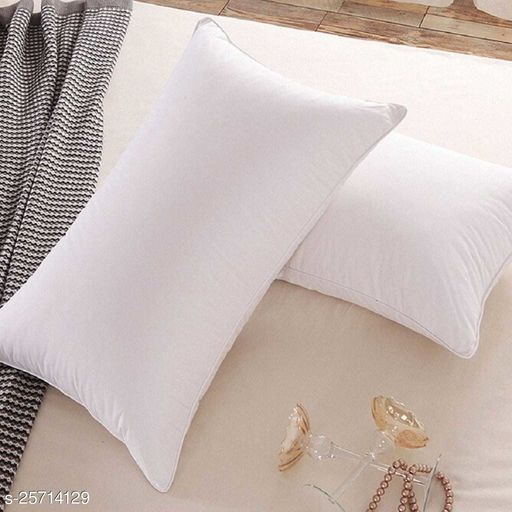 Fibre Fill Soft Luxurius Pillow Pack of 2(White) (40x60cm)