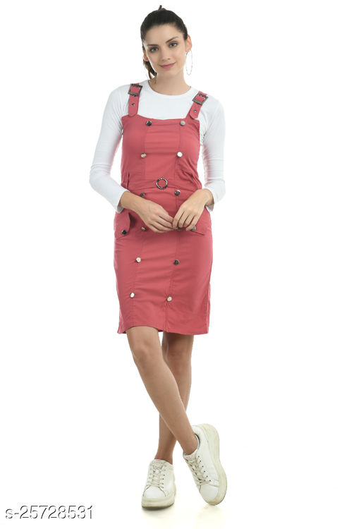 Women Pink Dungaree Jumpsuits