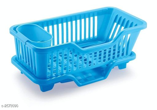 3 in 1 Sink Set Dish Rack Drainer With Tray