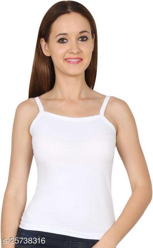 Women White Cotton Casual Sleeveless Camisole