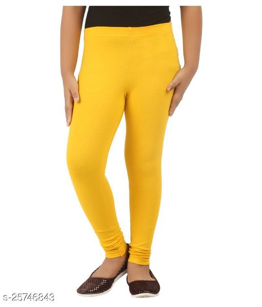 KriSo Cotton Lycra Lycra Legging  Yellow Colour