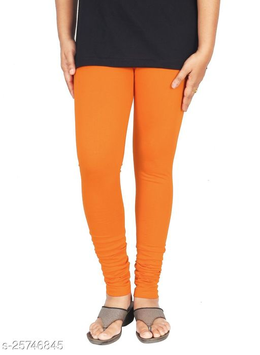 KriSo Cotton Lycra Legging Orange Colour