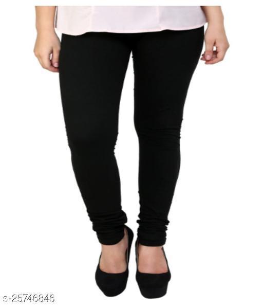 KriSo Cotton Lycra Legging Black Colour