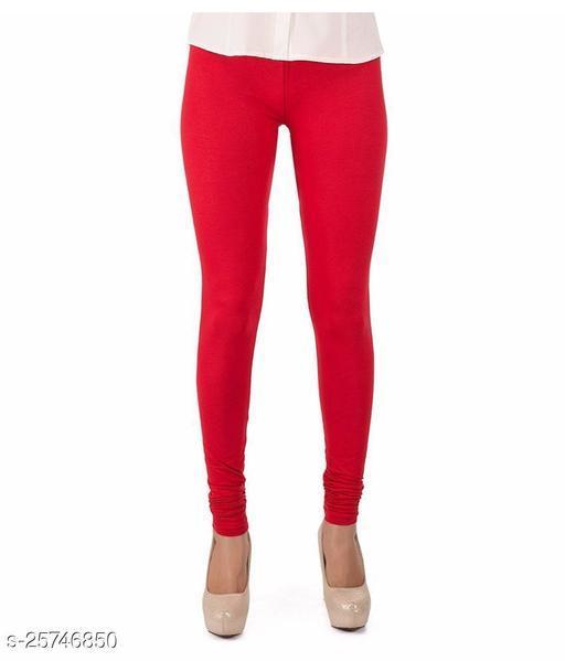 KriSo Cotton Lycra Legging Red Colour