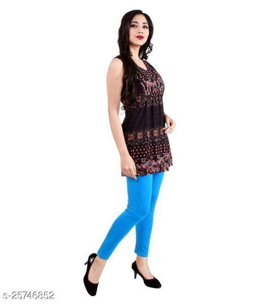 KriSo Cotton Lycra Legging  Sky Blue Colour