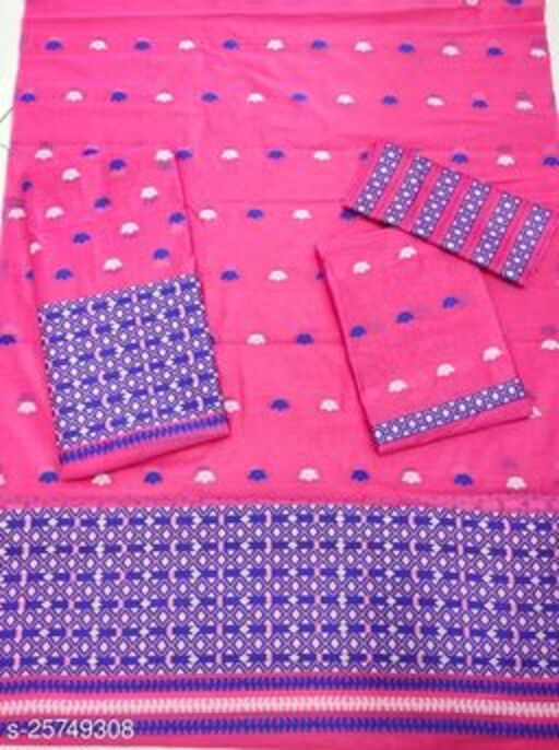 trending Assamese  mekhala chador cotton weaving design Saree