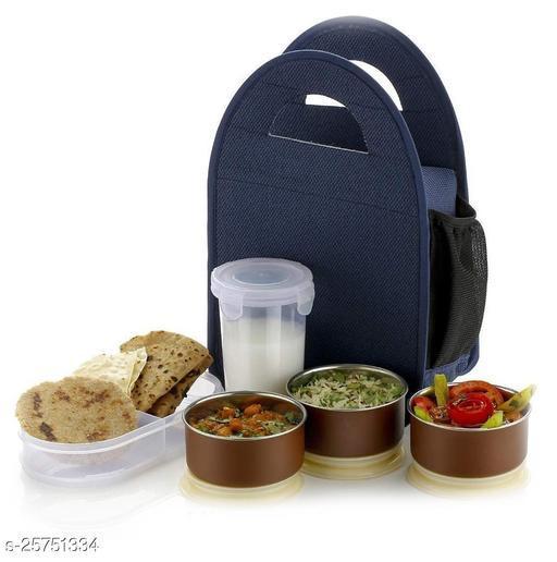 ASHWAM FANCY TIFFIN BLUE CODE T-2 Lunch Boxes