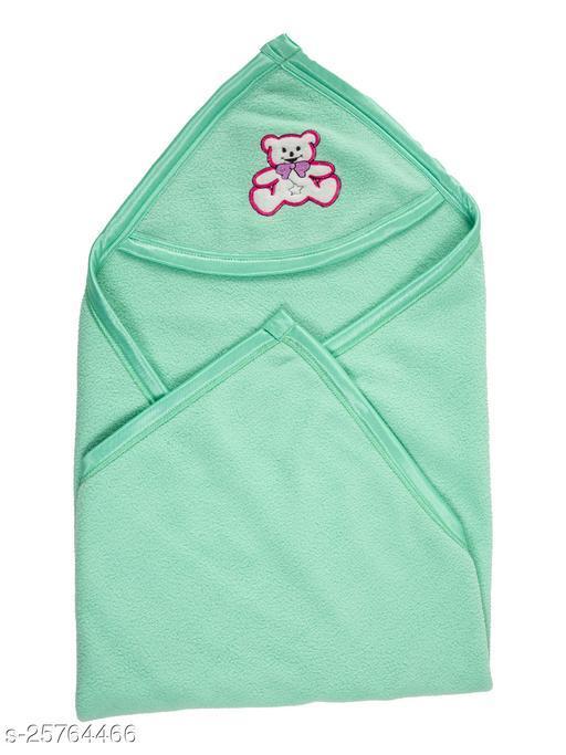 BABYZONE Super Soft AC Blankets Cum Wrapper Green Size 69x69