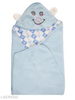 BABYZONE  AC Blanket Cum Wrapper Hooded Kaan Kit Sky Size 91x66