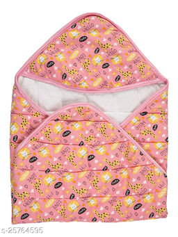 BABYZONE Printed AC Blanket Cum Wrapper Cotton Series Quilting Pink Size 76x76