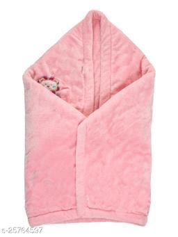 BABYZONE AC Blanket Cum Wrapper Flenno  Pink Size 107x81