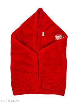 BABYZONE AC Blanket Cum Wrapper Flenno  Red Size 107x81