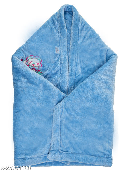 BABYZONE AC Blanket Cum Wrapper Flenno  Ferozi Size 107x81