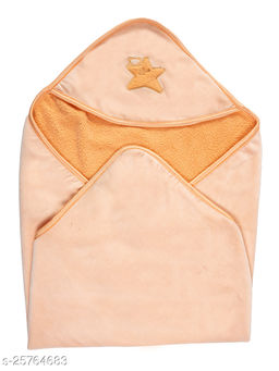 BABYZONE Swat AC Blanket Cum Wrapper with Soft Sherpa Orange Size 81x81
