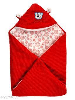 BABYZONE Super Soft AC Blankets Cum Wrapper Red Size 69x69